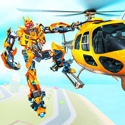 Icon Helicopter Robot Transform War – Air robot games