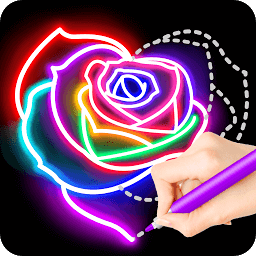 Icon Learn To Draw Glow Flower