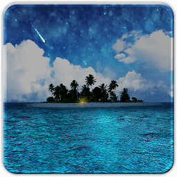 Icon Live Wallpapers HD: Island in the sea free