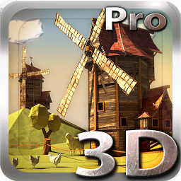 Icon Paper Windmills 3D Free lwp