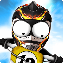 Icon Stickman Downhill - Motocross