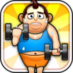 Icon Fat Man Fitness - Mini Games