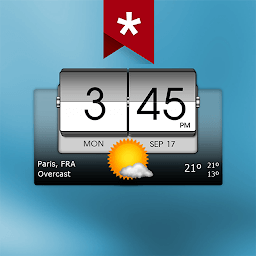 Иконка 3D Flip Clock & Weather Pro