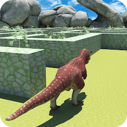 Icon Wild Dinosaur Maze Run Simulator 2017