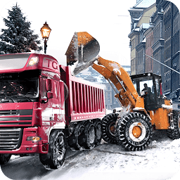 Icon Loader Dump Truck Winter