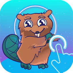 Icon Beaver and space reaction game