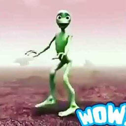 Icon The green alien dance
