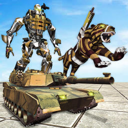 Icon Furious Wild Tiger Robot Tank Robot Transform Game
