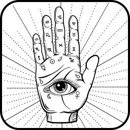 Icon Palmistry. Fortune telling by hand. Hand line reference