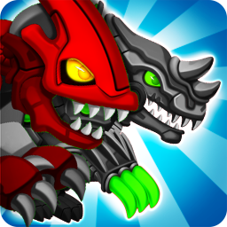 Icon Dino Robot Wars: City Driving and Shooting Game