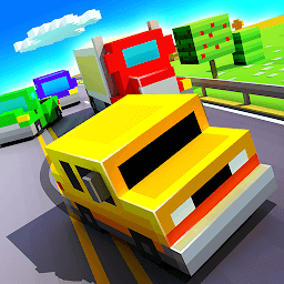 Иконка Blocky Highway: Traffic Racing