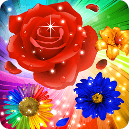 Icon Flower Mania: Match 3 Game